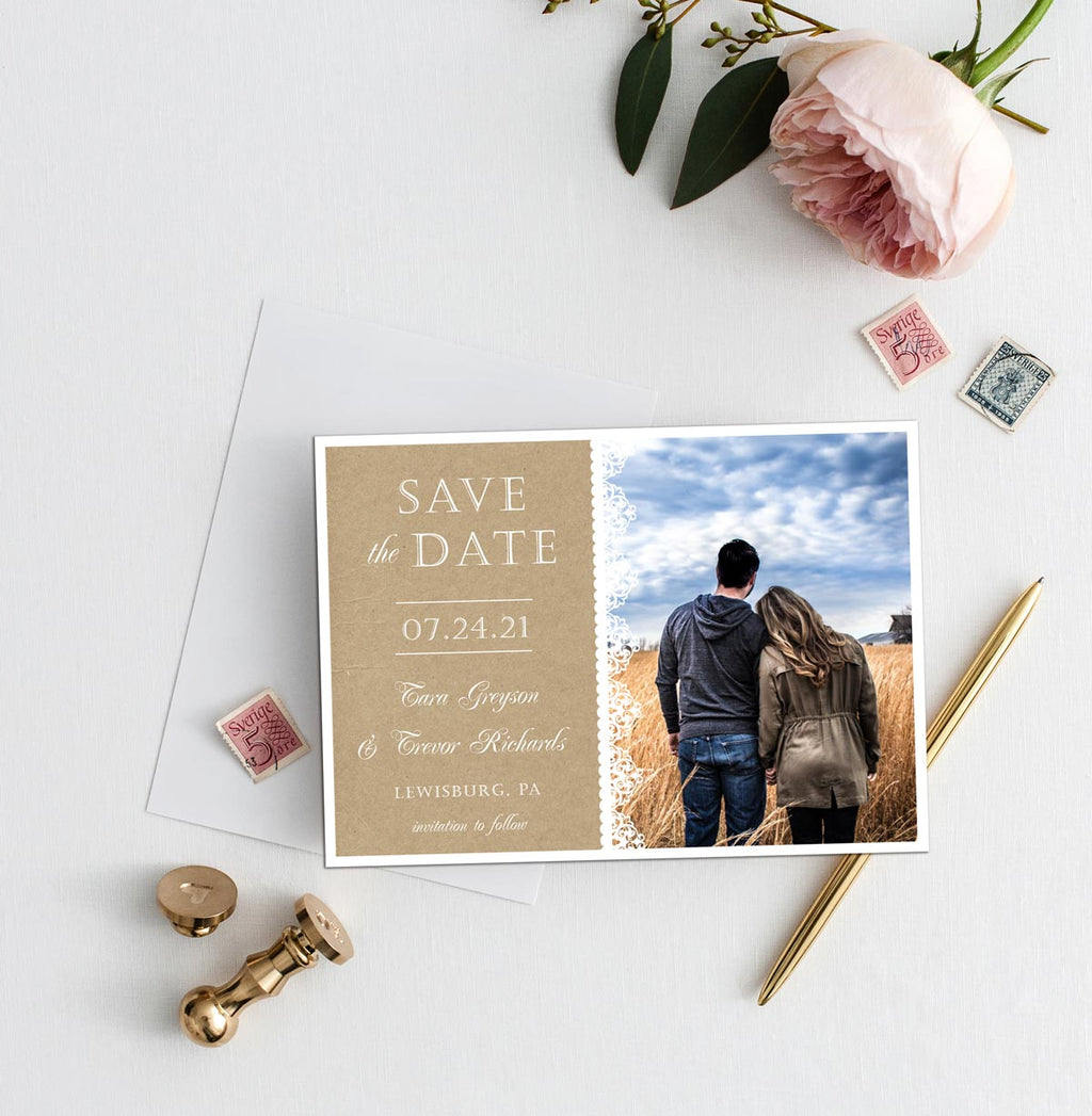 Lacey Love Photo Save the Date