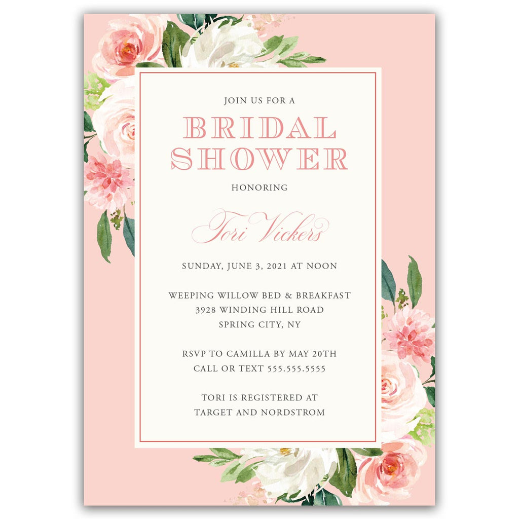Blush Boho Bridal Shower Invitation