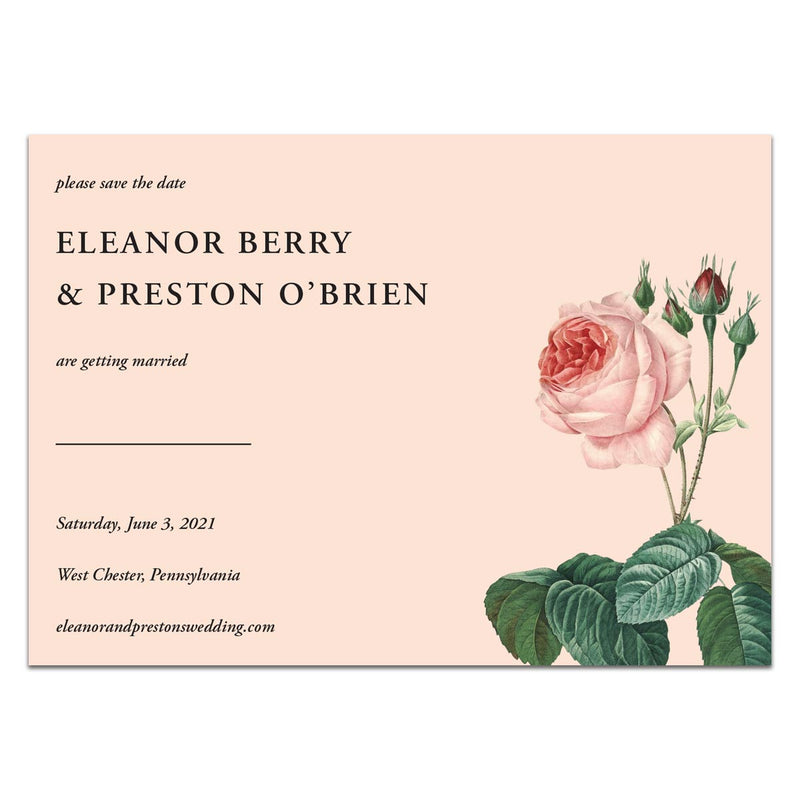 Blushing Roses Save the Date