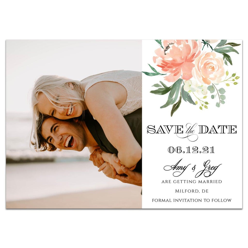 Peachy Dreams Save the Date Card