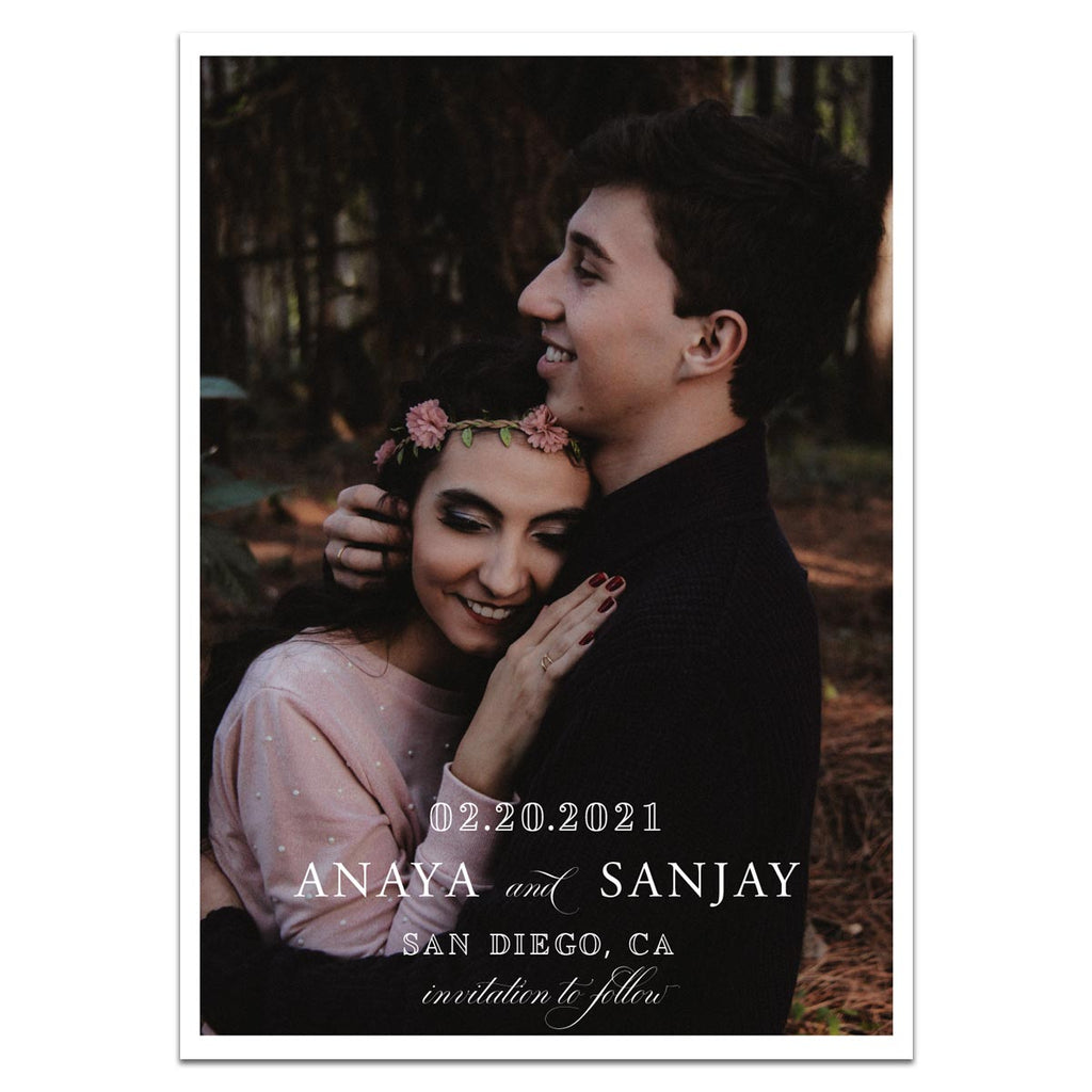 Photographic Love Save the Date Card