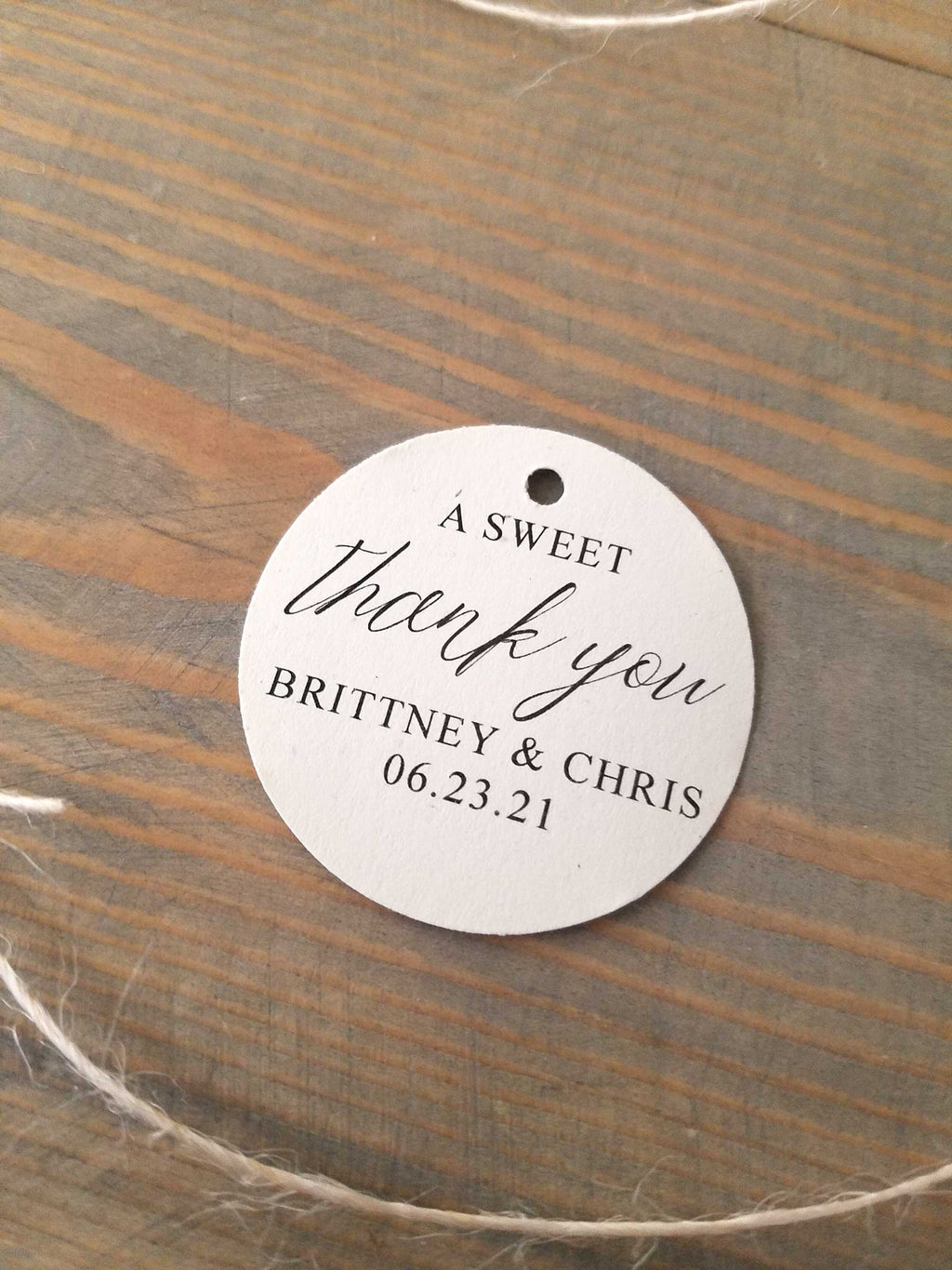 A Sweet Thank You Favor Tag