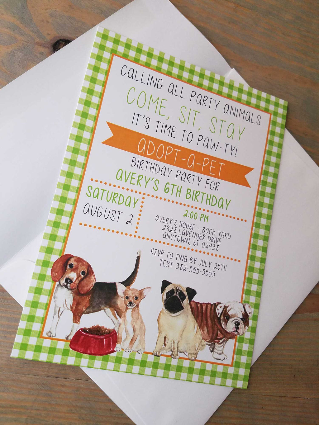 Adopt a Dog/ Adopt a Pet Birthday Party Theme