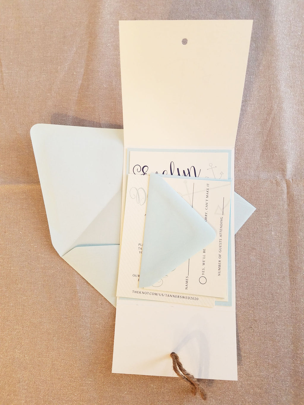 Seaside Destination Wedding Invitation Suite