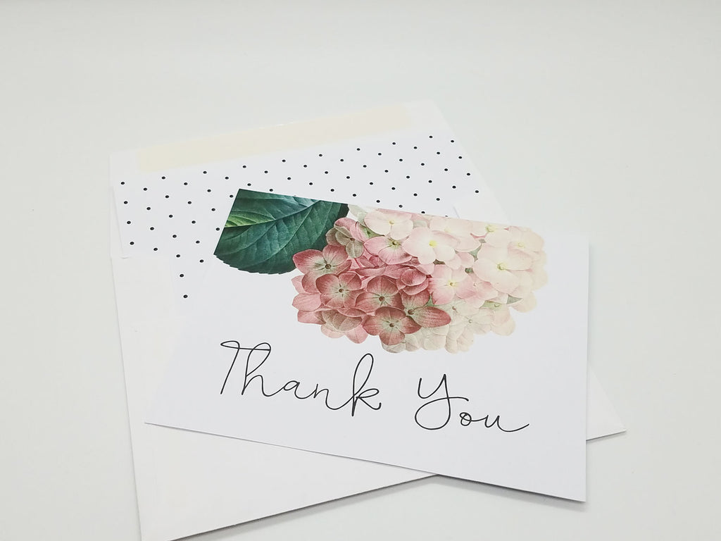 Antique Hydrangea Thank You Card