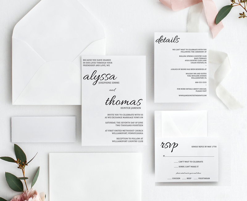 Split Decisions Wedding Invitation Suite