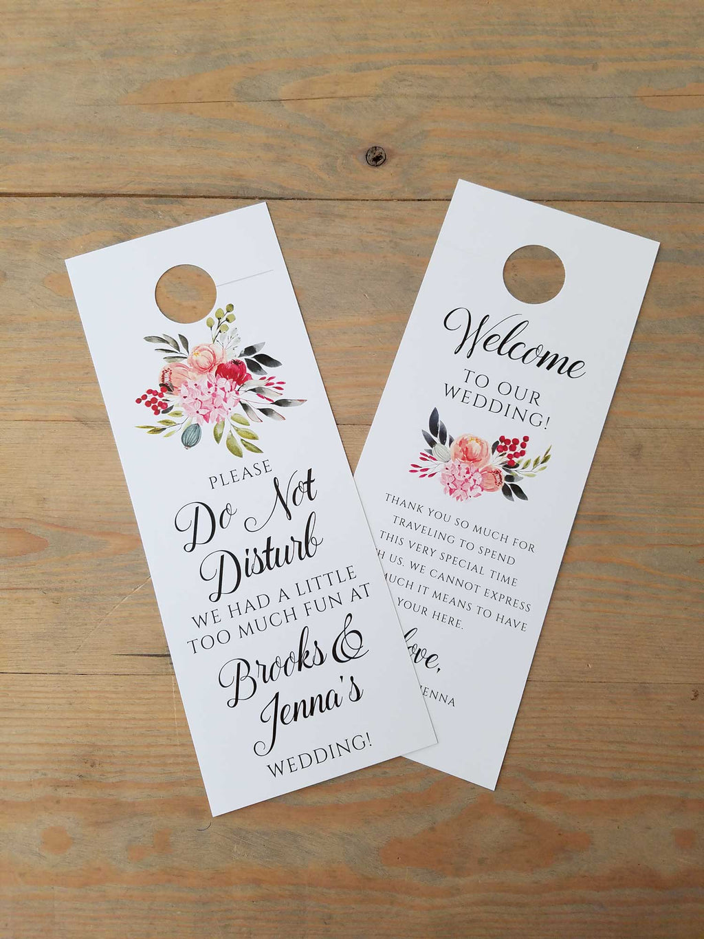 Bold Botanicals Do Not Disturb Door Hanger