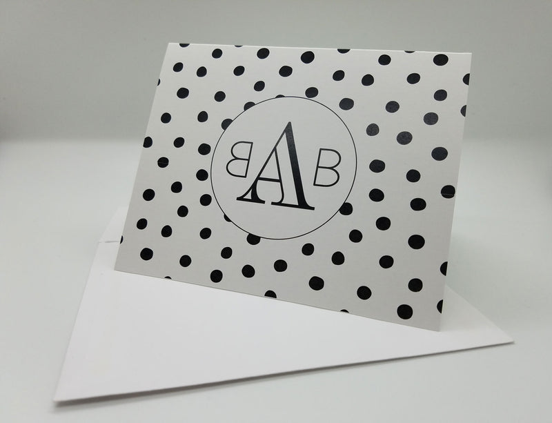 Bold Dot Monogram Personal Note Cards