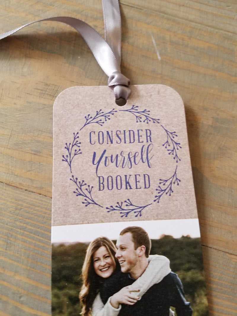 Country Wreath Save the Date Bookmark