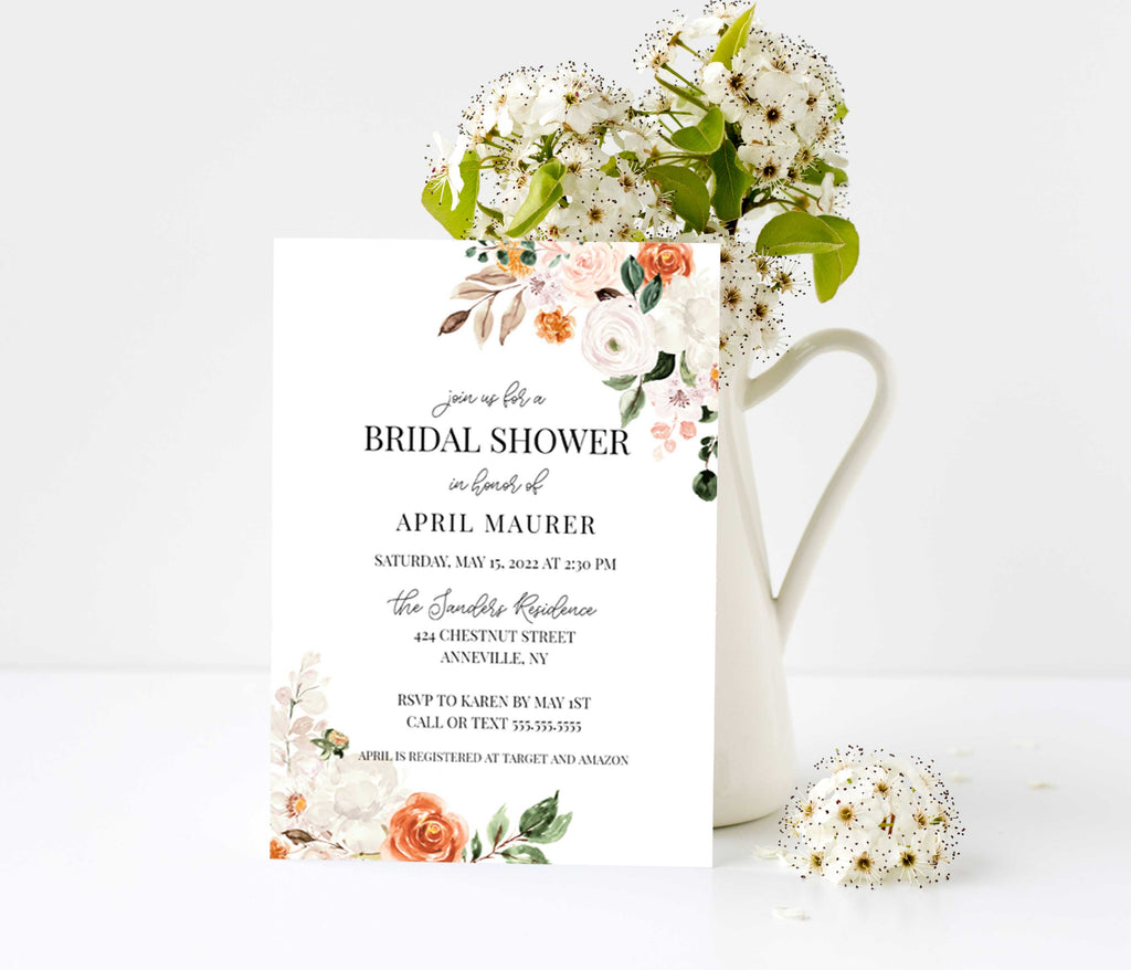 Botanica Corners Bridal Shower Invitation