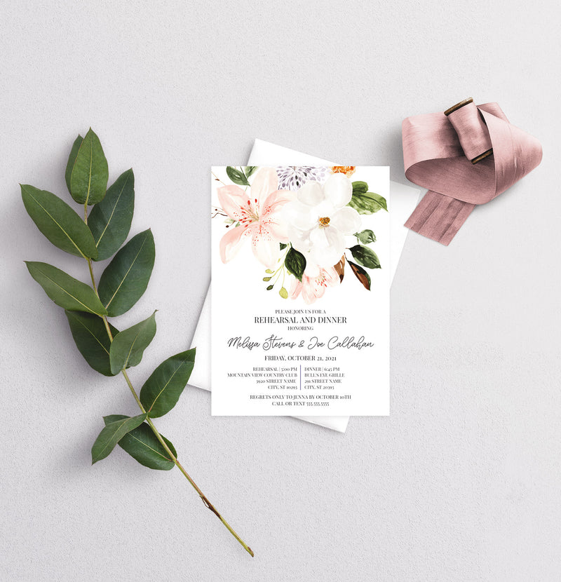 Botanica Rehearsal Dinner Invitation