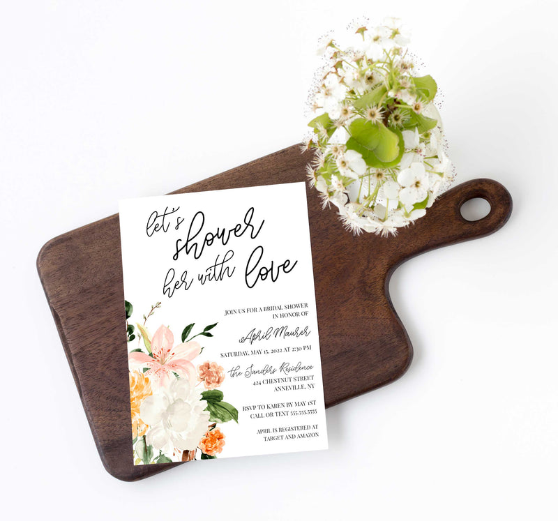 Botanica Shower the Bride Bridal Shower Invitation