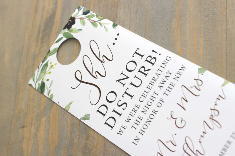 Burgundy Harvest Wreath Do Not Disturb Door Hanger