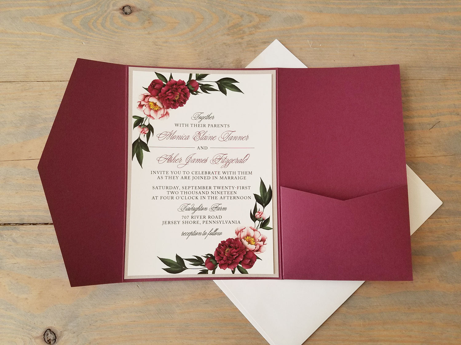 Funky Maroon Wedding Invitations Illustration - Invitation Card ...