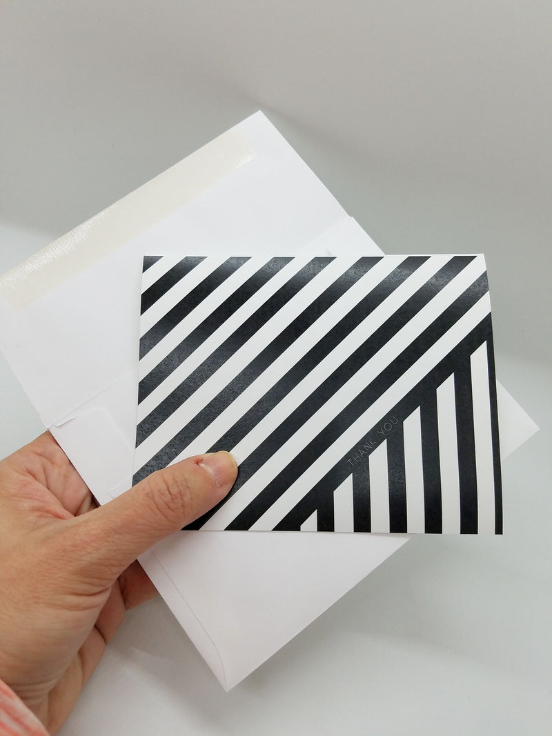 Contrasting Stripes Thank You Card
