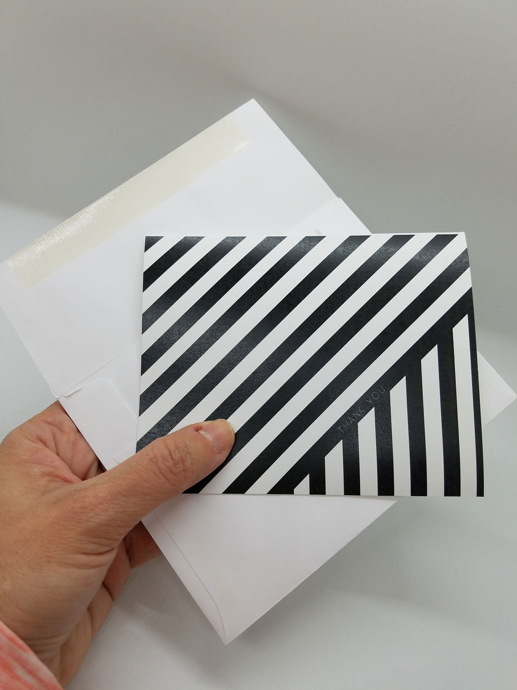 Contrasting Stripes Personal Note Card