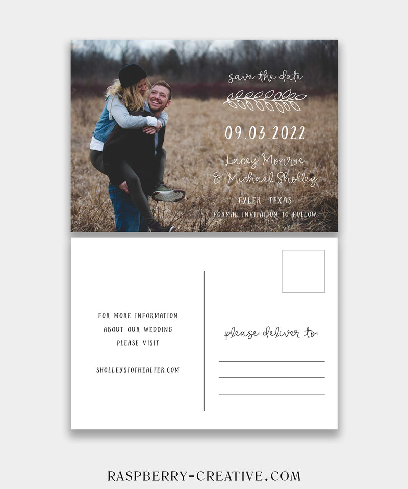 Country Photo Save the Date Postcard