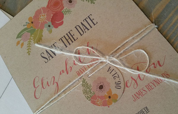 Earthly Florals Save the Date