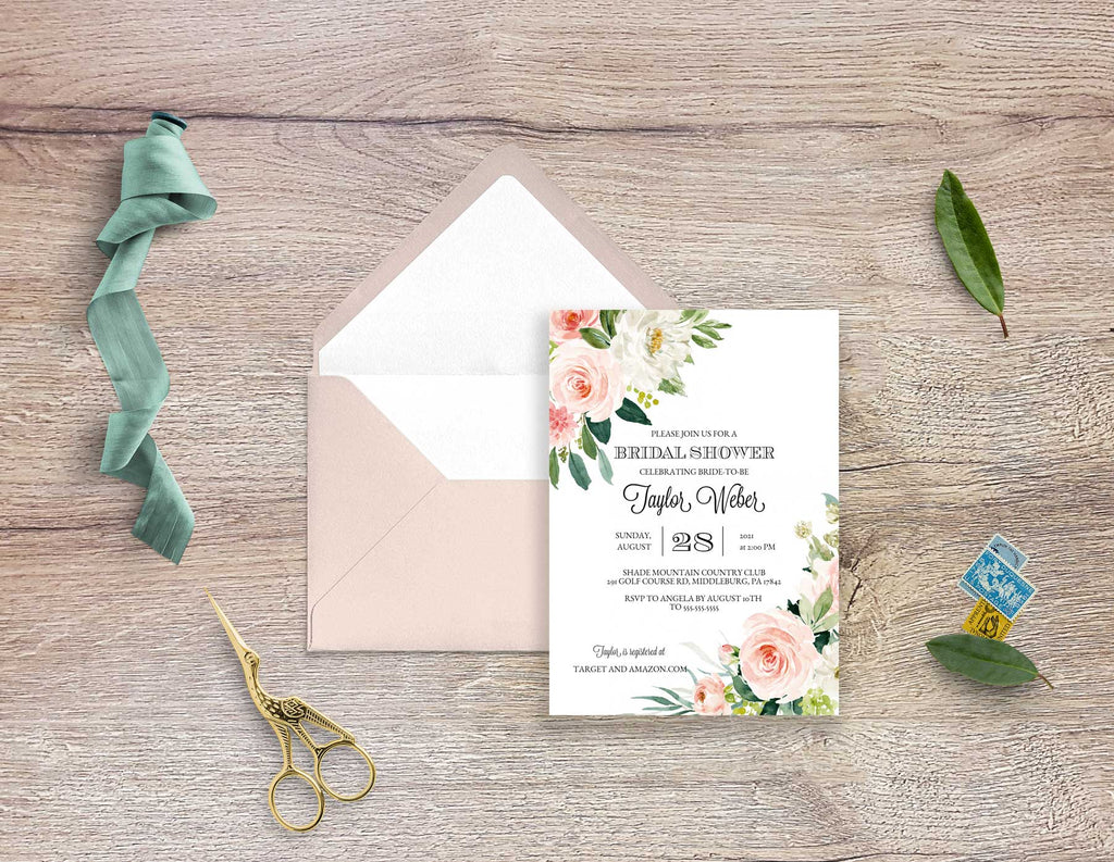 Ethereal Blush Bridal Shower Invitation