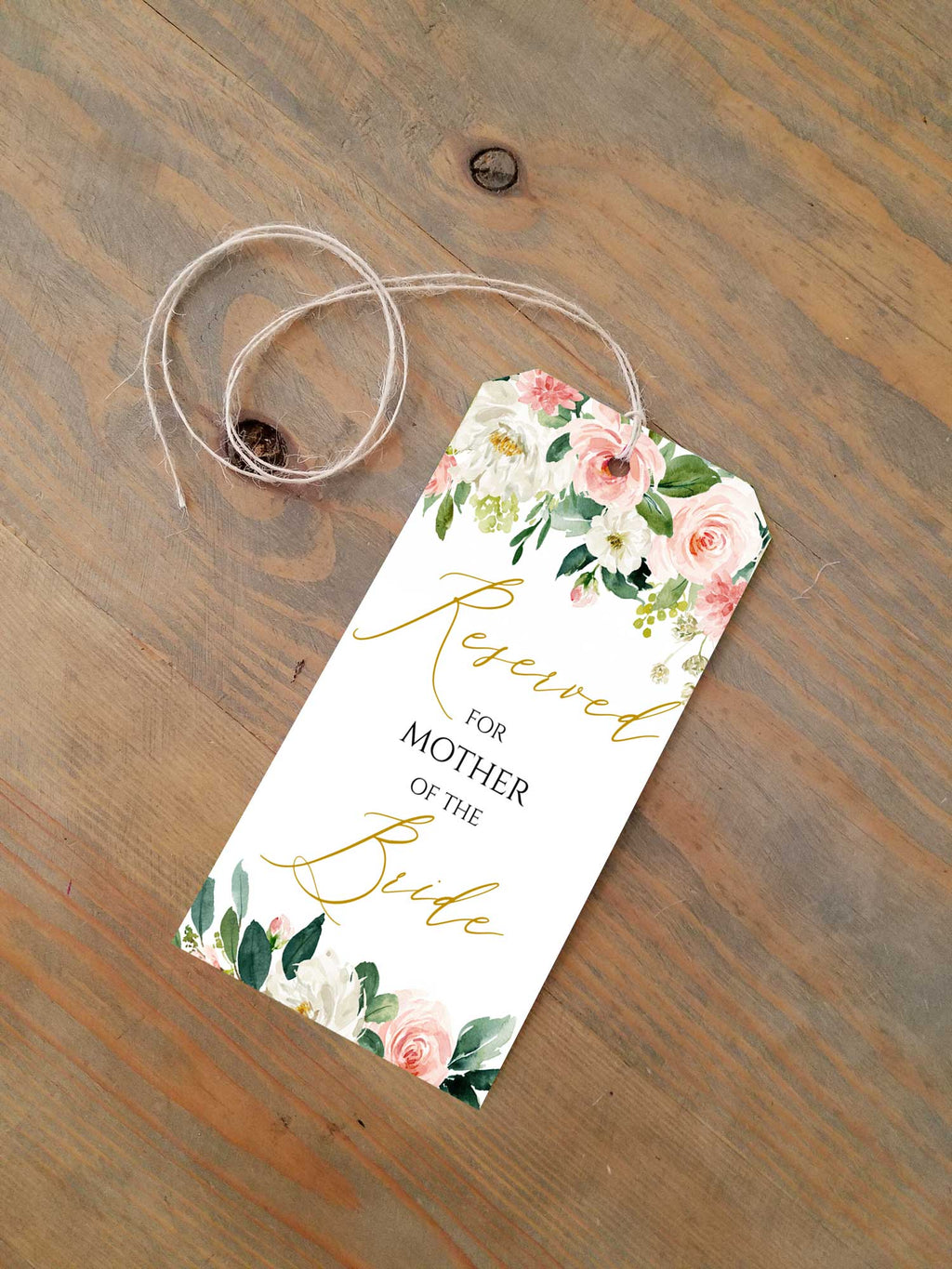 Ethereal Blush Reserved Seating Tags