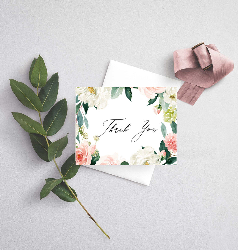 Ethereal Blush Thank You Card