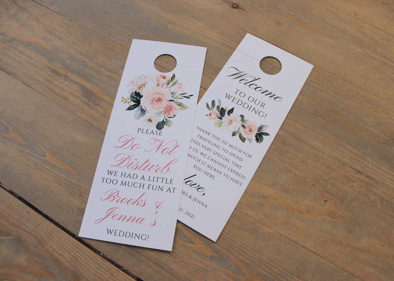 Ethereal Blush Do Not Disturb Door Hanger