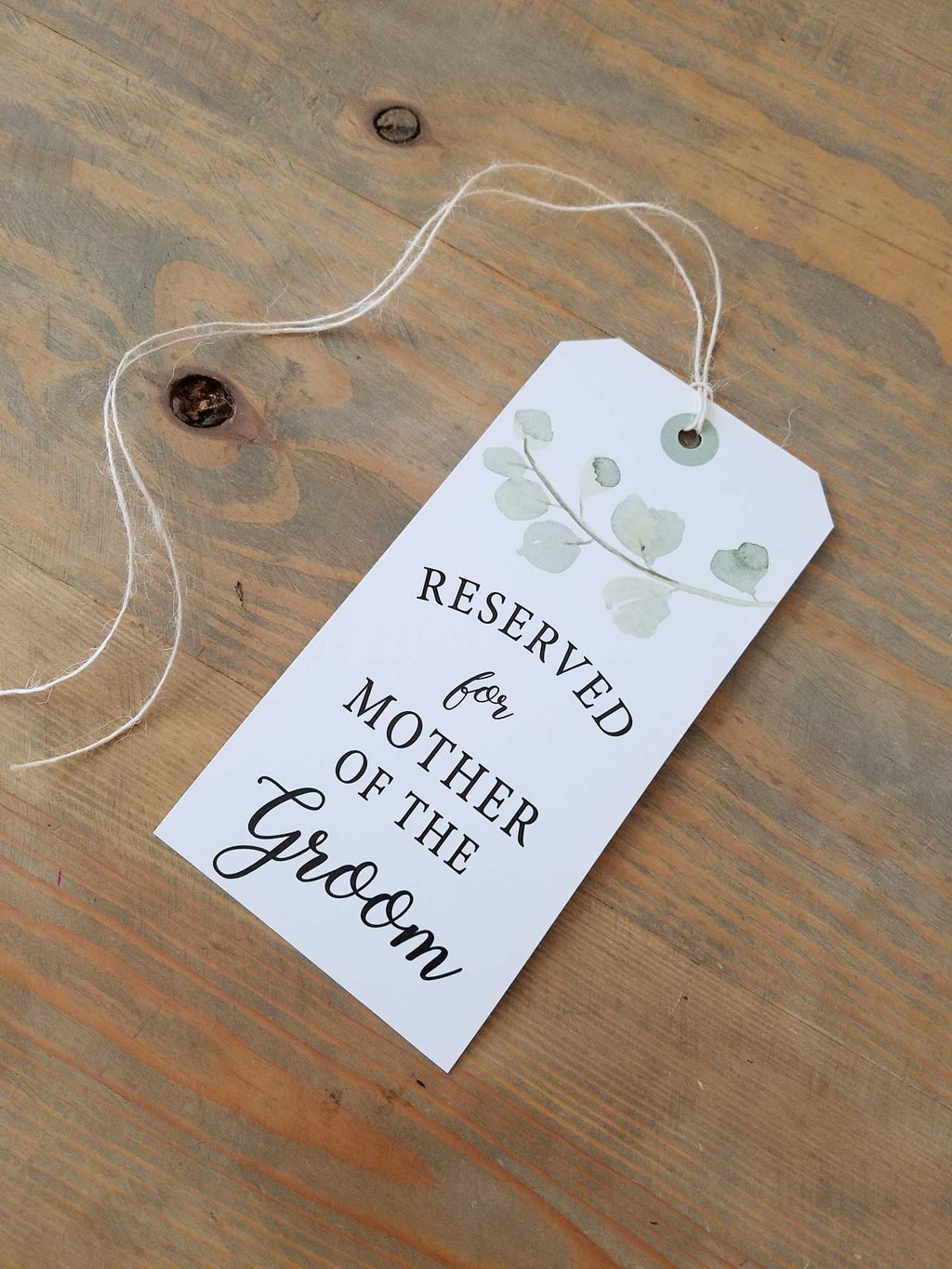 Eucalyptus Reserved Seating Tags