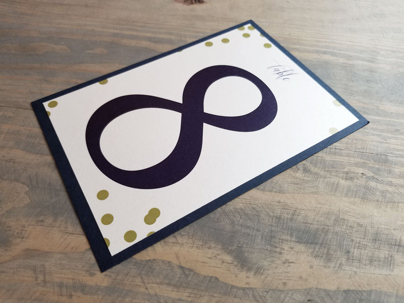 Festive Dots Table Numbers