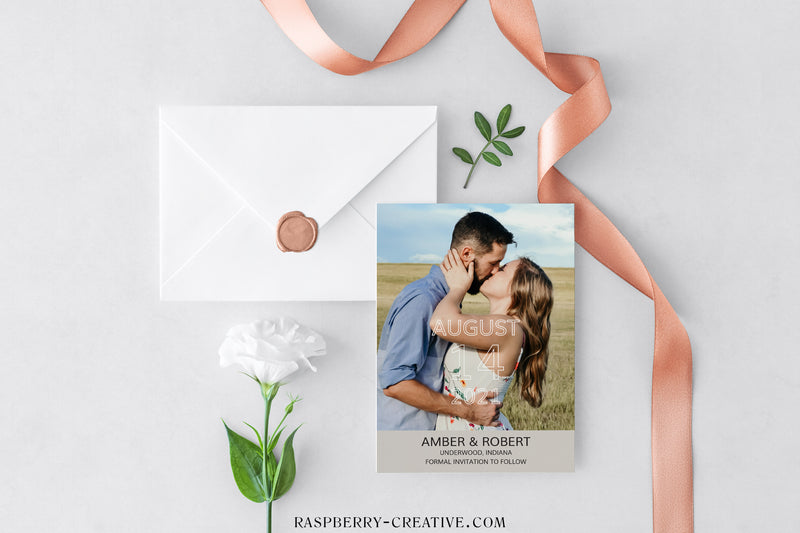 Frame the Photo Photo Save the Date Card