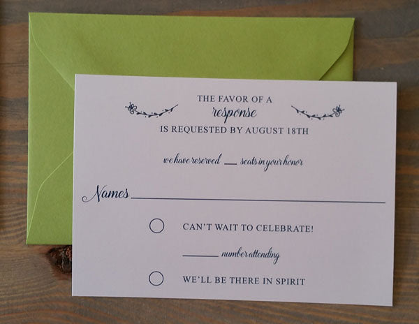 Simple Wreath Wedding Invitation Suite