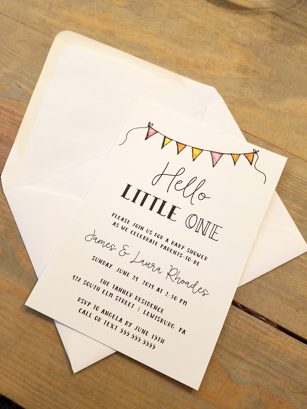 Hello Little One Baby Shower Invitation