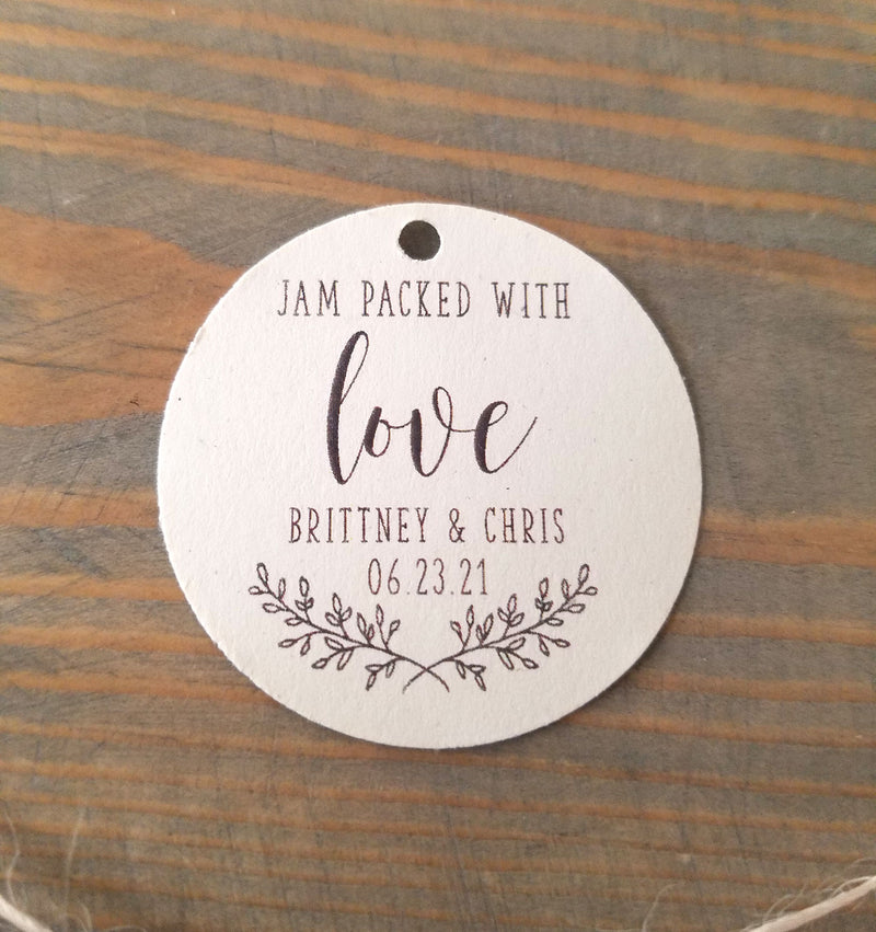 Jam Packed with Love Favor Tag