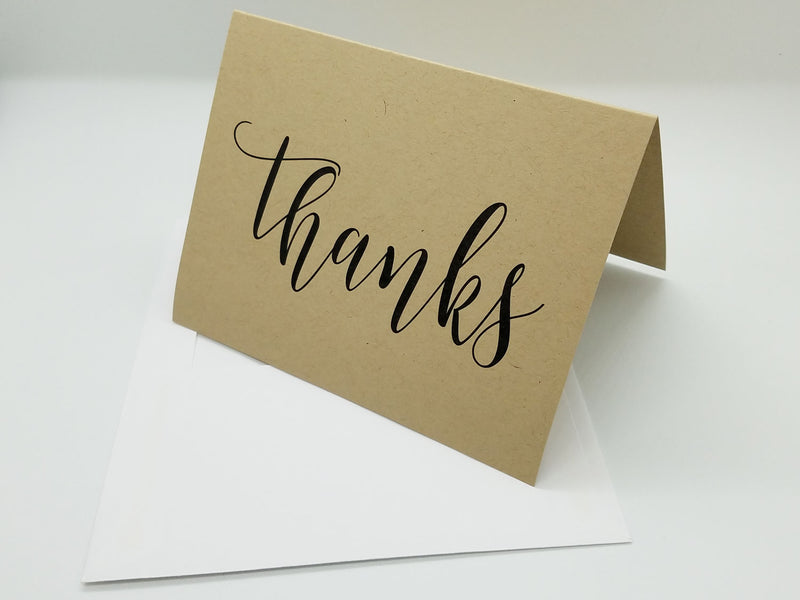 "Kraft ""Thanks"" Note Card"