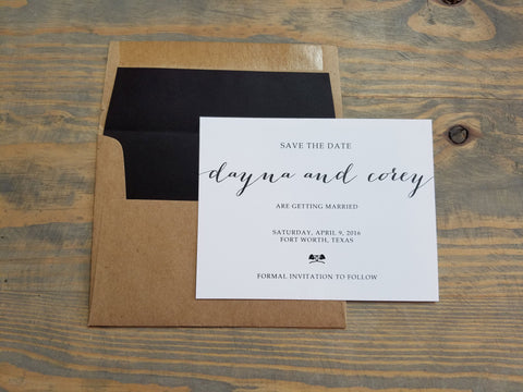 Natural Black Save the Date