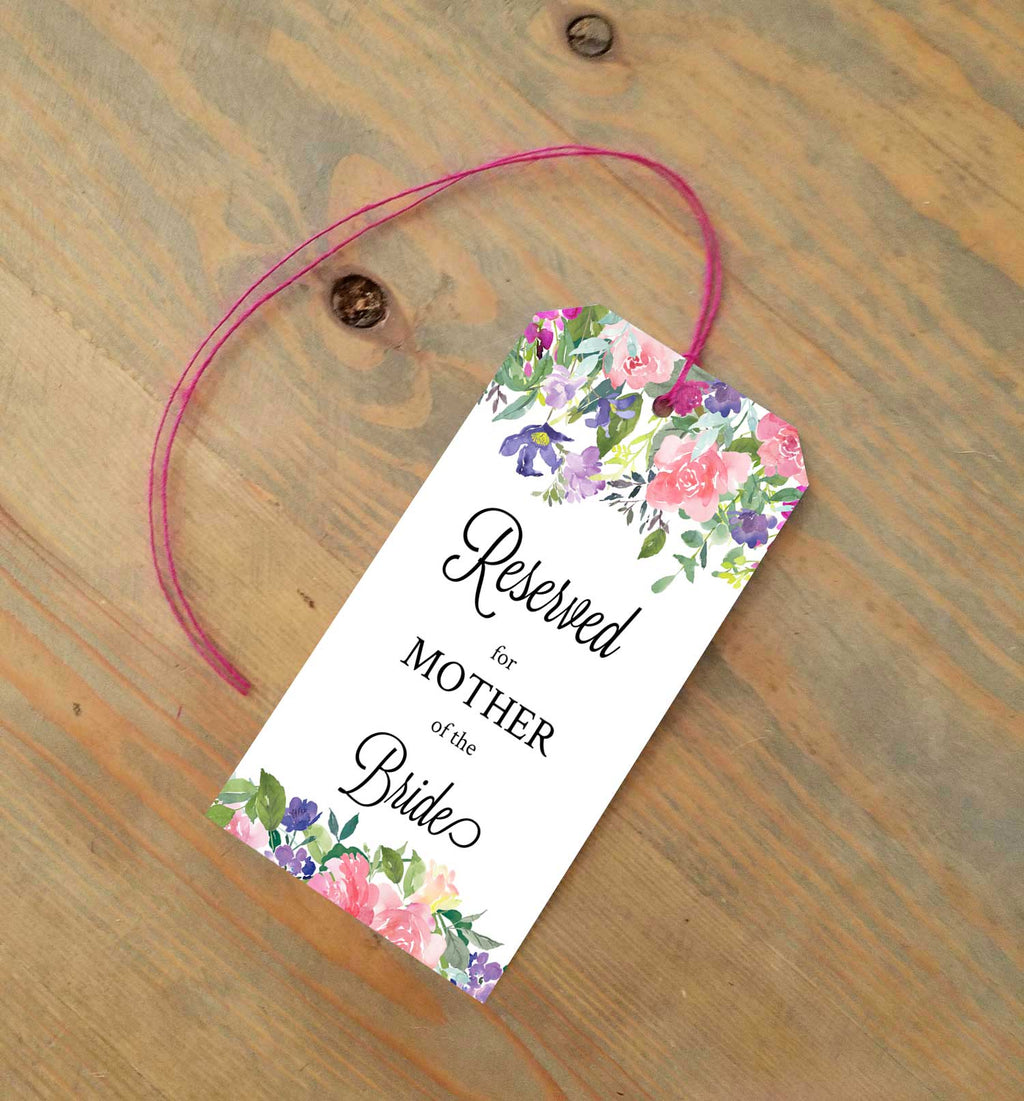 Lavender Elouise Reserved Seating Tags