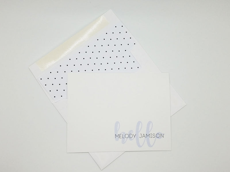 Layered Hello Note Card Set