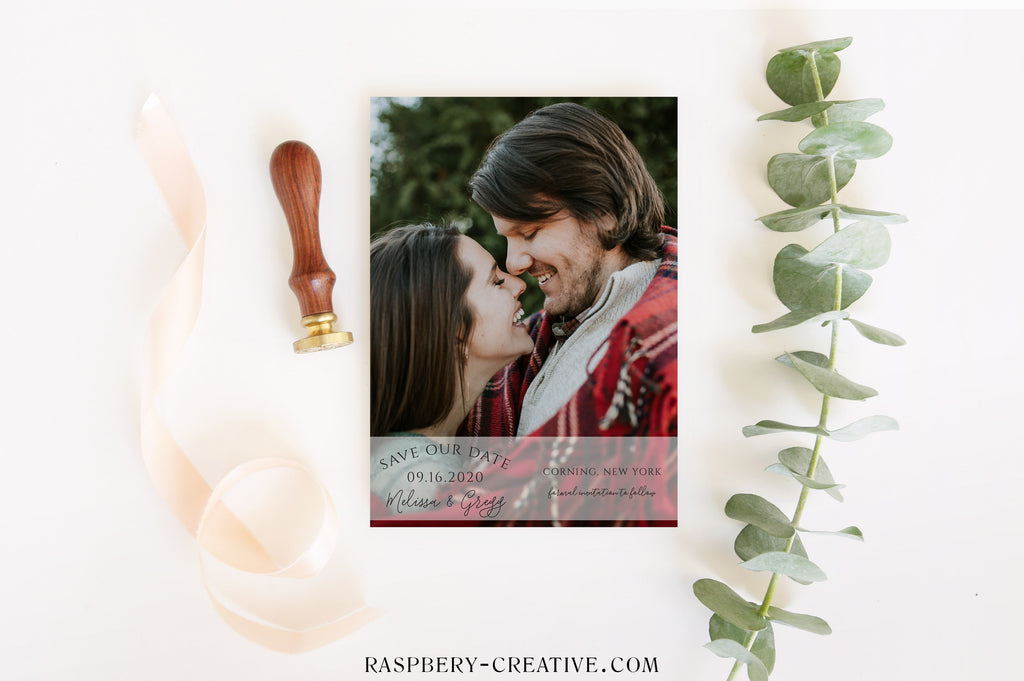 Layered in Love Photo Save the Date Card