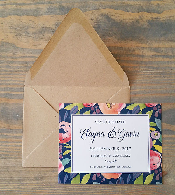 Lovely Florals Save the Date