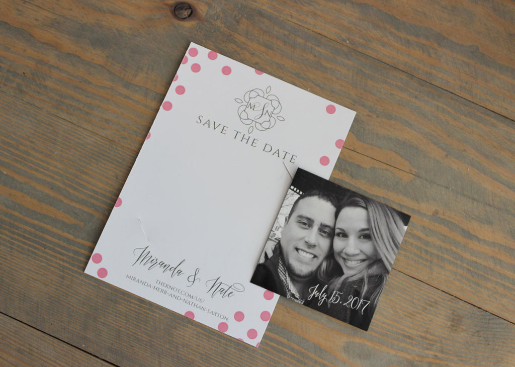 Mini Magnet Save the Date Card