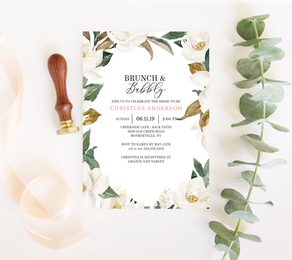 Magnolia Bridal Shower Invitation
