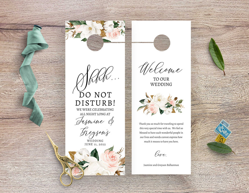 Magnolia Do Not Disturb Door Hanger