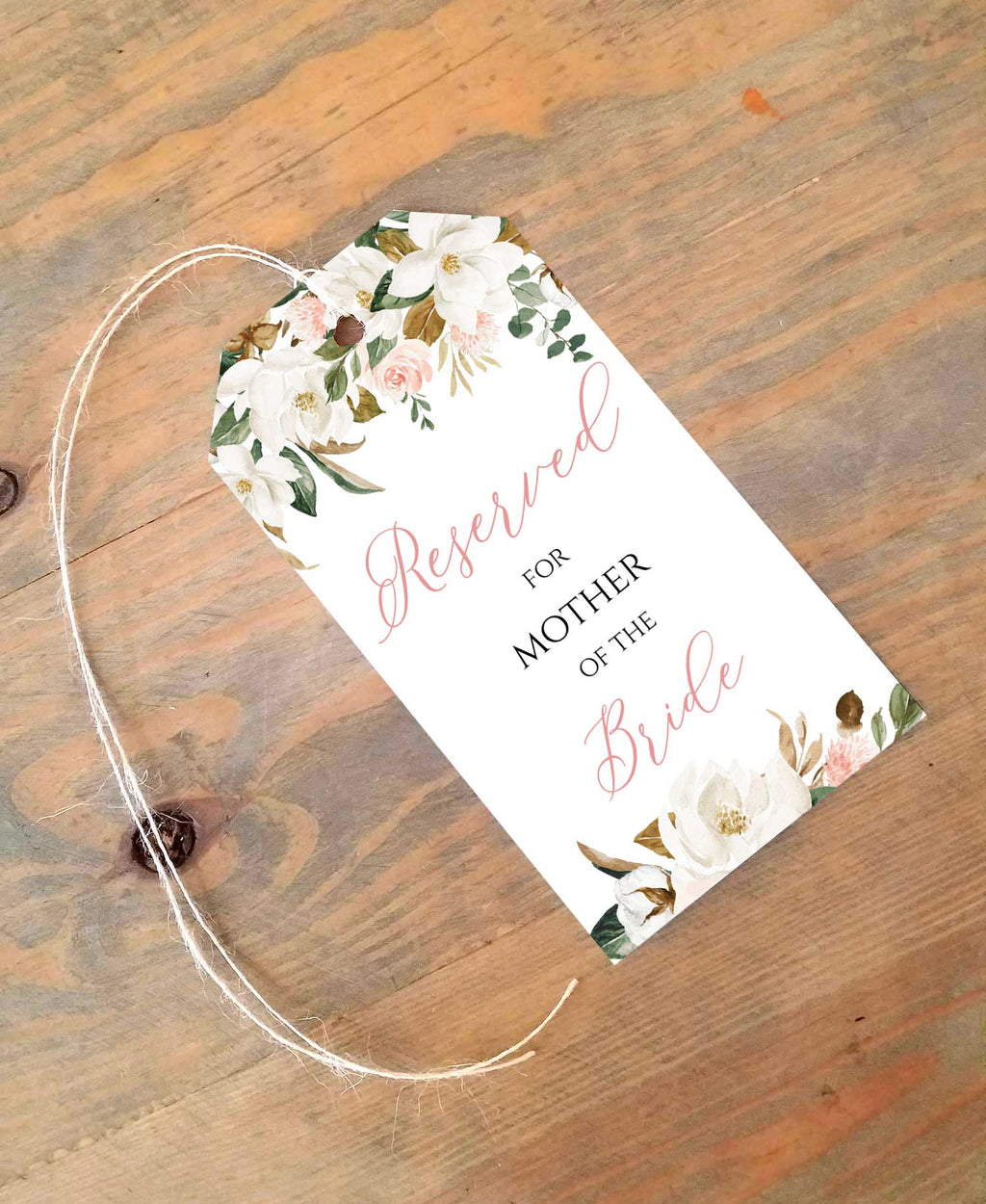 Magnolia Reserved Seating Tags