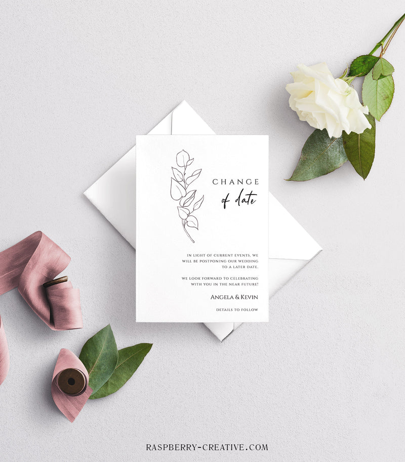 Minimalist Botanical Change the Date Cards