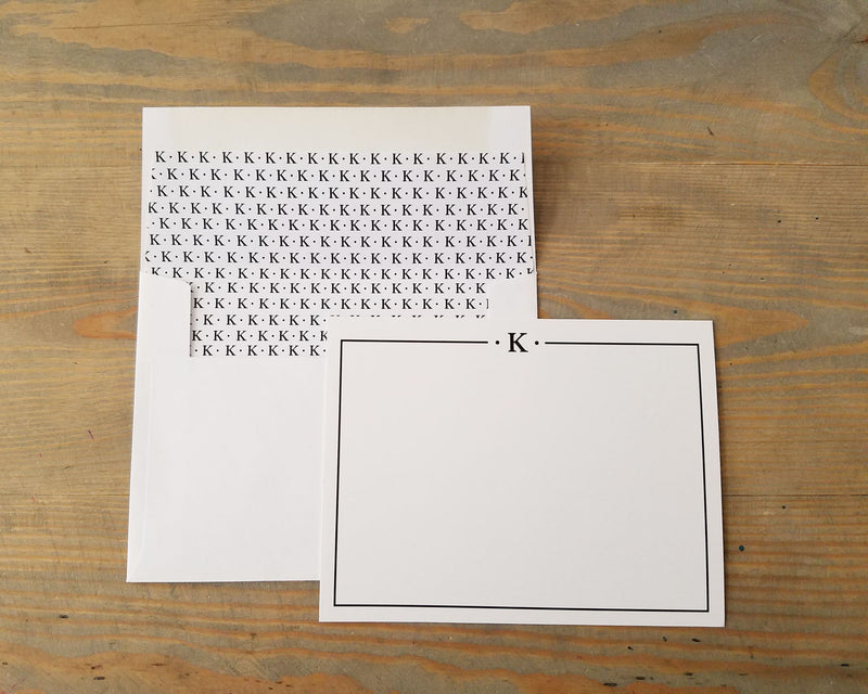 Minimal Monogram Personal Note Card Set