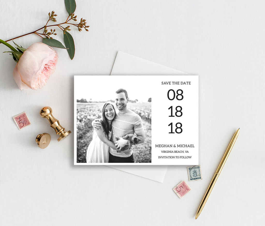 Square Photo Save the Date Card
