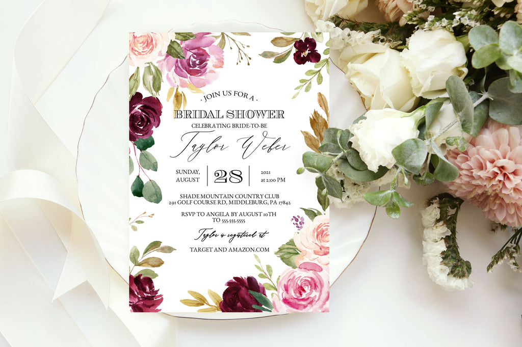 Rustic Moody Bridal Shower Invitation