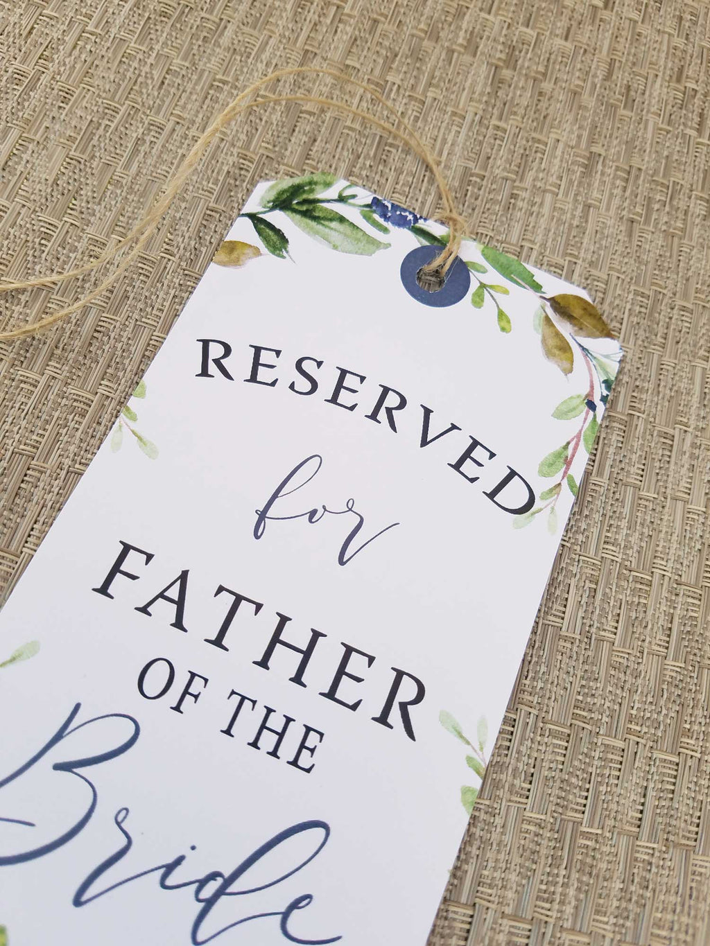 Navy Harvest Reserved Seating Tags