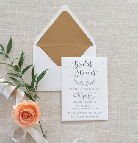 Rustic Elegance Bridal Shower Invitation