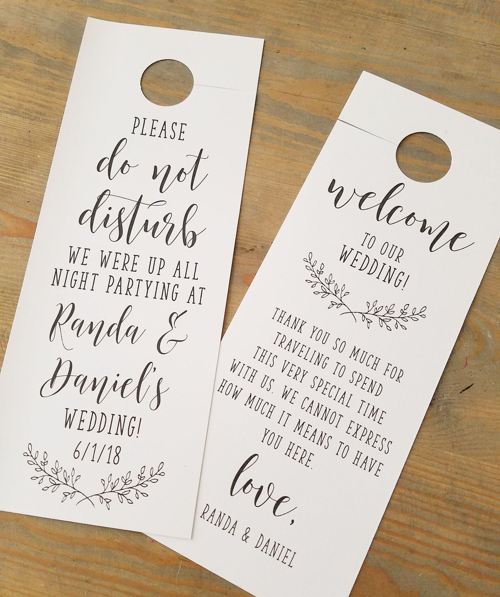 Rustic Elegance Do Not Disturb Door Hanger