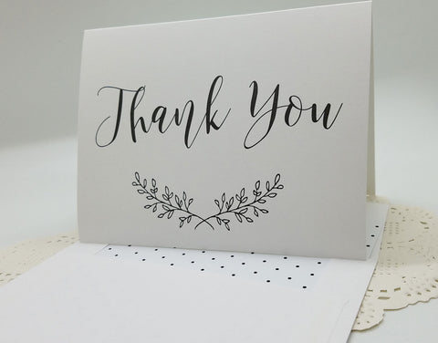 Rustic Elegance Thank You Card